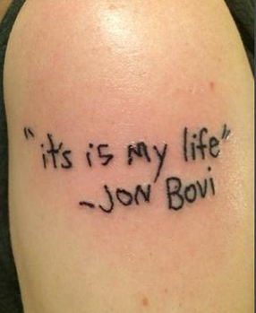 tattoo typos, typo on tattoo, bon jovi tattoo typo