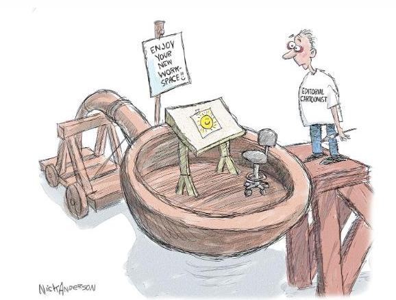 CNN Typo on Rob Rogers Cartoonist Article