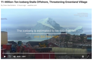 Typo on Iceberg Video on Weather.com Begs for Proofreader